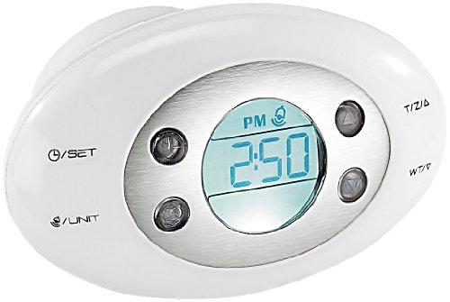 infactory Gepäck-Waage: Digitale Kofferwaage mit Uhr, Wecker & Thermometer (Elektronische Kofferwaage)
