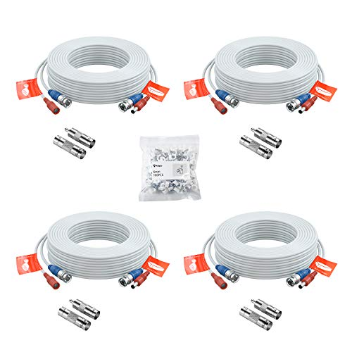 Anlapus 4pcs Cable 20m/65 pies de BNC Video Fuente de