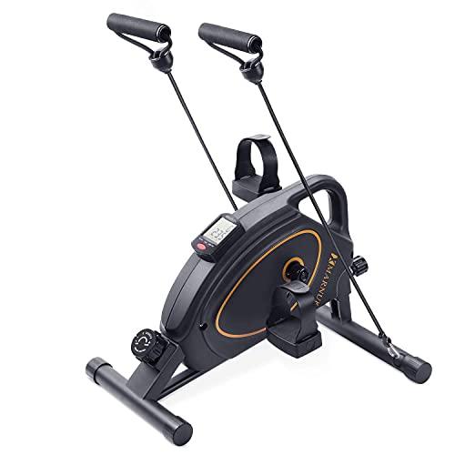 MARNUR Under Desk Bike Pedal Exerciser Mini Exercise Bikes Peddler Magnetic Pedal Cycle Portable for Arm/Leg Exercise Home/Office Workout