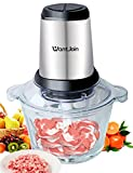 WantJoin Electric Food Processor Meat Grinder and Food Chopper with 4 Titanium Coating