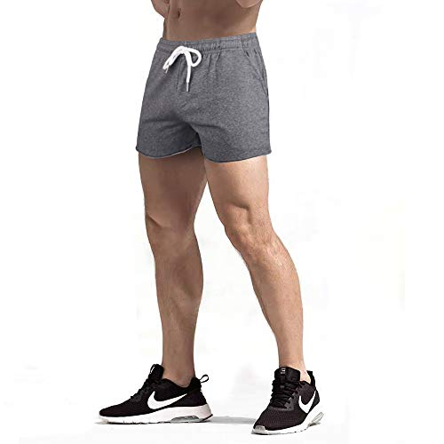 GYMAPE Hombres Gym Sports Bodybuilding Workout Shorts 5 Pulgadas con Raw Hem Design Serie de Camuflaje