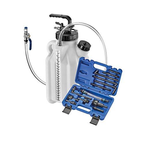 ASTA Druckluft Öl-Einfüllgerät 10L Öleinfüller ATF Getriebe-Öl mit 13 Adaptern