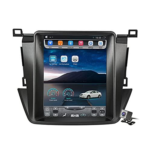 Buladala Android 11 Pantalla Vertical 9.7' Reproductor de automóvil Multimedia Navegación GPS para Toyota RAV4 2013-2018 Soporte FM Am RDS Autoradio Stéreo/Carplay Android Auto/SWC/Bluetooth,Ts2