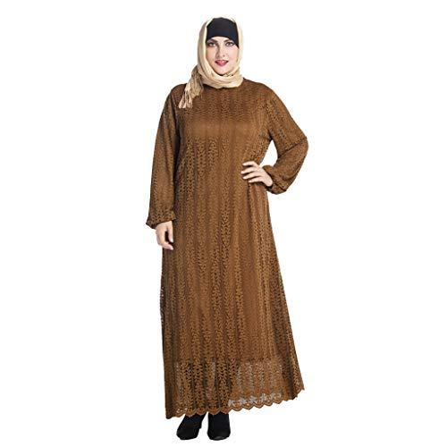 foreverH Muslim Damen Moslemischer Hut Turban Retro Frauen Islamisches Moslemisches Kostüm Abaya Lange Haare Langarm XL Robe Muslim Kopftuch Hut lässig Beanie Caps weichen Von FORH