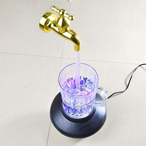 LVYI La Magia suspendió Grifo Copa luz Intermitente Colgante Colorido apoyos mágicos Compras Drenaje Decoración Artesanía Productos artesanales de plástico decoración del hogar artesanía