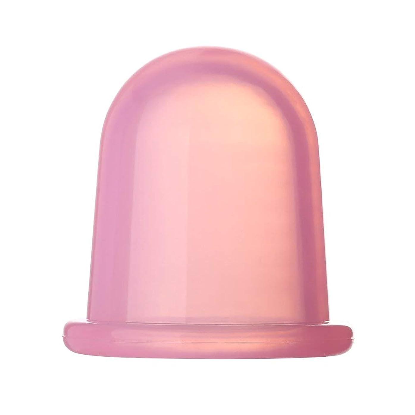 ループインデックス本部耐久性のあるヘルスケアフルボディ真空マッサージャーシリコンカップアンチセルライトは、家族のための物理的疲労ストレスを和らげます - ピンク