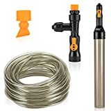 hygger Bucket-Free Aquarium Water Change Kit Fish Tank Auto Siphon Pump Gravel Cleaner Tube with Long Hose Water Changer Maintenance Tool 49-FEET