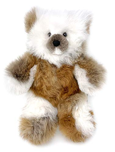 Inca Fashions • 100% Baby Alpaca Fur Teddy Bear • Hand Made • Hypoallergenic & Pillow Soft • (12 Inch, Multi Mixed Color)