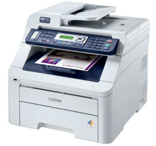 Brother MFC-9320CW 4-in-1 Farblaser-Multifunktionsgerät (Scanner, Kopierer, Drucker, Fax) weiß