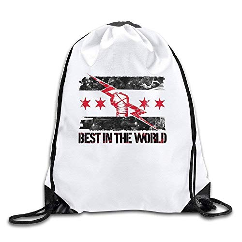 Yuanmeiju Flower Camp Go Logo Unisex Fasion Drawstring Shoulder Backpacksluggage Bags Casual Travel Bags Shoulder Pouch Beam Port Backpack Tote Canvas Bag Storage Bag One Sized White