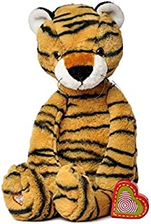 My Baby's Heartbeat Bear - Vintage Stuffed Tiger with a 20 Second Voice/Sound Recorder Keeps Your Baby's Ultrasound Heartbeat Safe! - Vintage Tiger