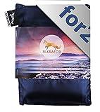 Silkrafox for 2 - Saco de Dormir Ultraligero para Las excursiones de Senderismo, 150 cm de Anchura es Espacio Suficiente, los Viajes, Las acampadas, Seda Artificial, Azul