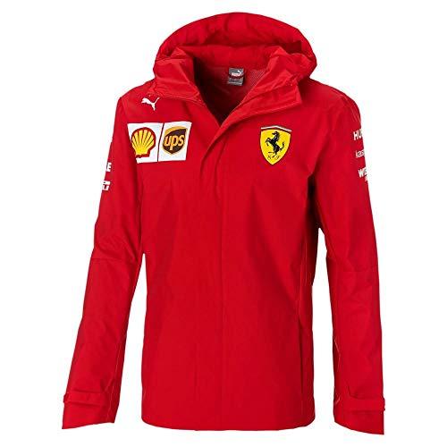 PUMA Ferrari Herren Jacke Team Woven Hooded Größe L rot