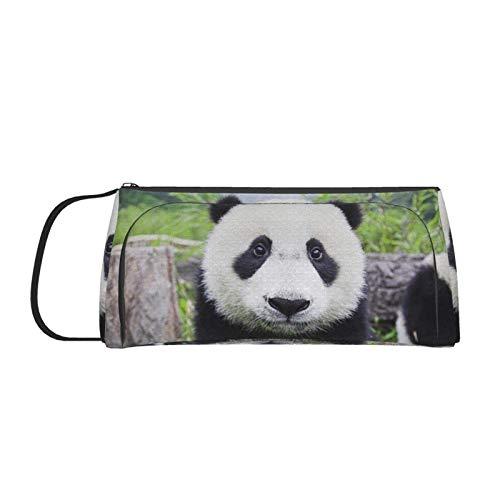 Panda Pencil Case Frauen Mädchen Cute Makeup Coin Pouch Handheld Stifthalter Marker Daten Kabeltaschen für School Office Desk Zubehör
