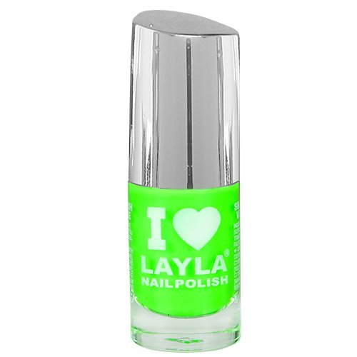 Layla Cosmetics 1258R23-008 I Love Layla Smalto, Tonalità 08 Light Green Fluo