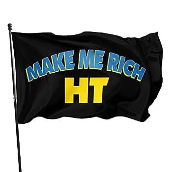 Make Me Rich Huobi Token Coin HT Flag 3x5 FT Outdoor Indoor Decor- Polyester