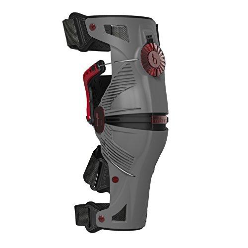 Mobius rodillera X8, color gris/rojo, talla XL