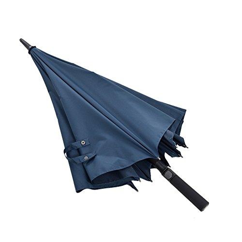 ZHUSAN Regenschirm-Langer Handgriff-automatischer Geschäfts-Oversize Starker Regendichter Faltender Doppelter Golf-Sonnenschirm-Kreative Persönlichkeit mit 8 Rippen Für Männer
