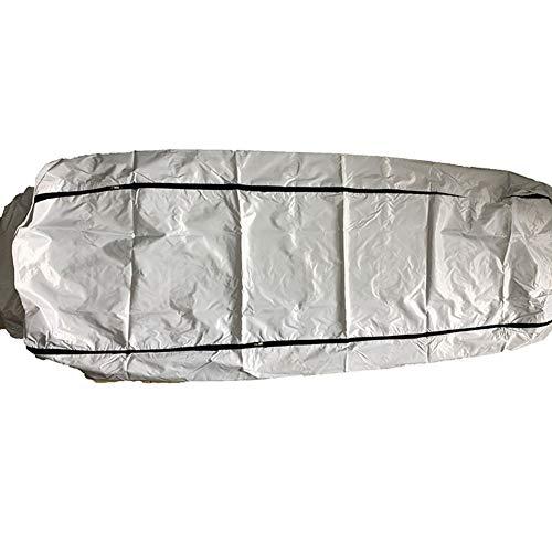 PVC Cadaver Body Bags, Tragbare Leichentuch Body Bag, Brandbekämpfung Leichensack, Mit 4 Seitengriffen Wasserdicht Und Auslaufsicher, Weiß (72 * 28In)