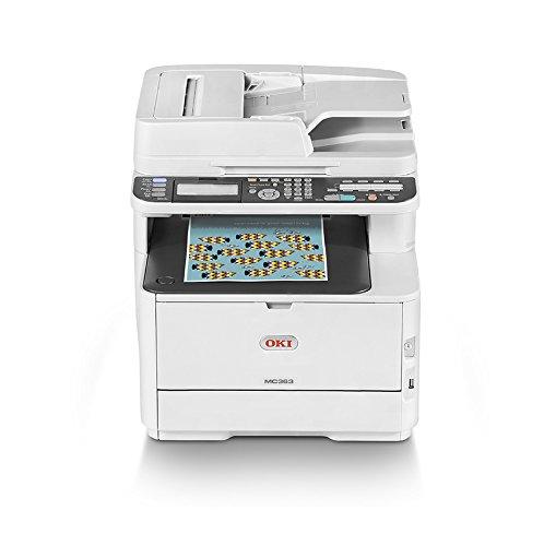 OKI MC363dn - Equipo multifunción Color A4 con tecnología LED, Duplex, Velocidad 26 páginas/Minuto, Color Blanco