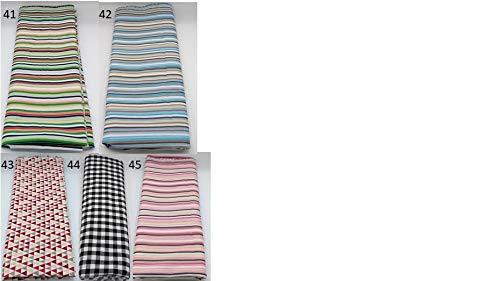 Stoffpaket Muster verschiedene Größen Baumwolle Stoffreste Webware Patchen Patchwork Baumwollstoff Restepaket Streifen Karo kariert gestreift rot rosa grün blau schwarz weiß