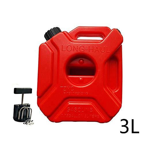 Yunhigh Bidón Gasolina 3L con Soporte Fijo Jerry Can Espesado antiestático de Alta Resistencia de plástico de Coches Barril de Aceite Combustible Puede Contenedor de Almacenamiento Cubo de bidón