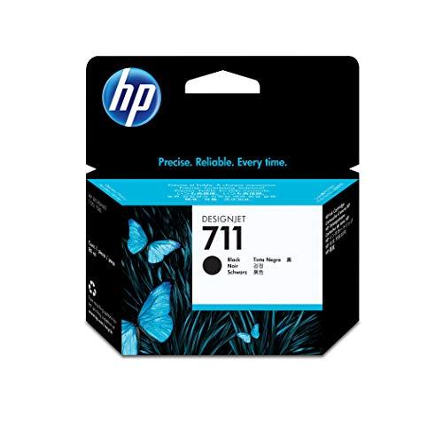 HP 711 - Cartucho de Tinta Original de 80 ml (CZ133A) para impresoras de Gran Formato DesignJet T530, T525, T520, T130, T125, T120 y T100