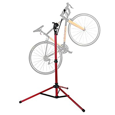 unisky Bike Repair Stand Pro Home Mechanics Bicycle Repair Workstand Shop Height Degree Adjustable Cycle Maintenance Rack for Mountain and Road Bikes