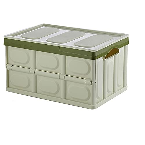 Belika Caja de Almacenamiento Plegable de plástico - Caja de Almacenamiento Plegable Multifuncional 56L Organizador de artículos Diversos de Gran Capacidad Contenedor de Armario para el hogar