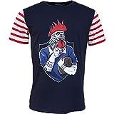 Religion Rugby - T-Shirt de Rugby Marinière - Le Coq tatoué - XL