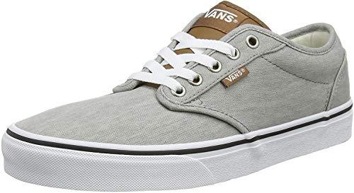 Vans Atwood Canvas, Sneaker Hombre, Gris ((Enzyme Wash) Drizzle/White W58), 44 EU