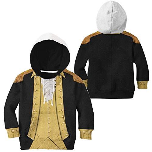 xHxttL Sudadera de Disfraz Colonial, George Washington/Alexander Hamilton/Napoleon 3D Print Historical Colonial Figure Costume Cosplay Sudadera con Capucha para Hombres y Mujeres