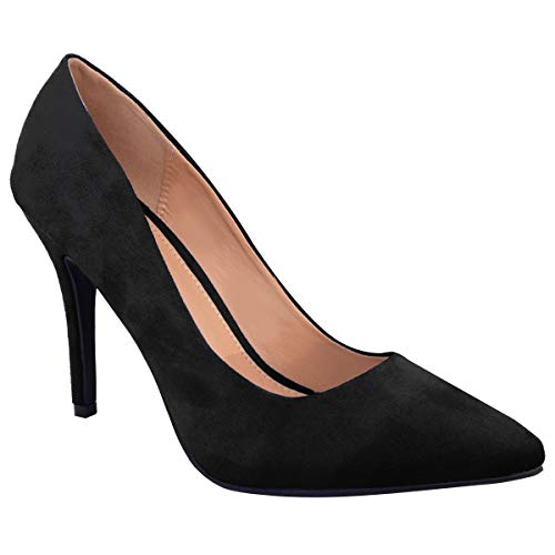 Womens Ladies Low MID HIGH Heel Pointed Toe Pumps Smart Office Work Court...