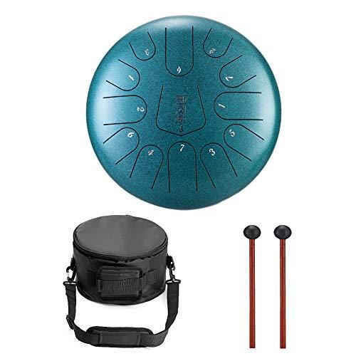 12 Zoll 13 Töne Pan Drum Stahl Tongue Drum Schlagzeug Instrument Hand mit Schlagzeug Schlägel Taschen Tragen Hinweis Sticks