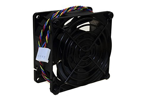 PartsCollection Super Performance Delta 80x80x38mm Double Ball Bearing PWM Speed Control Function Case Fan (Black)