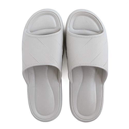 HUSHUI Chanclas Zapatos de Playa y Piscina,Pantuflas de Suela Blanda para el hogar de Interior, Sandalias de Pareja en baño-Gris_44-45,Mujer Verano Baño Antideslizante Chanclas