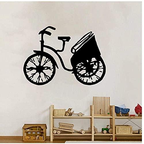 Adhesivo De Pared Bicicletas Decoración Vintage Cocina Y Gimnasio Deporte Extremo Pvc Removible Decoración Para El Hogar 49X35Cm