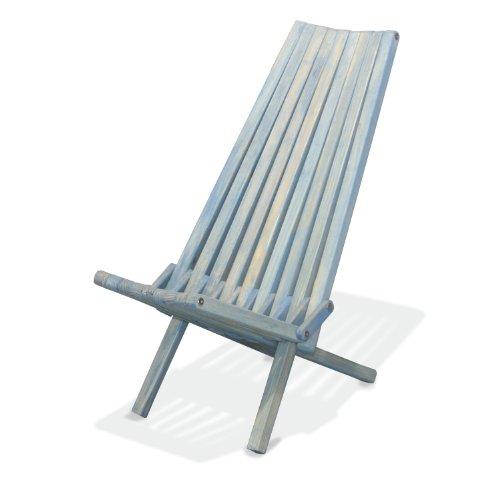 GloDea X45 Natural Lounge Chair, Sky Blue