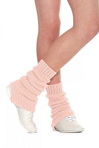 Roch Valley SLW - Calentadores de piernas para Mujer, Mujer, 1SLWPE60, Rosa melocotón, 60 cm