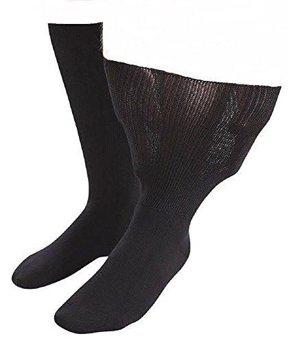 IOMI Sock Shop Footnurse - Herren und Damen socken extra weit b& ödeme beine behandlung ges&heitssocken in 4 Größen und 5 Farbig (45-50 eur, Schwarz)