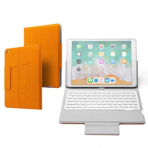 Hjkl Black Keyboard Case For Ipad 10.2 2019 Smart Cover For Ipad 7th A2200 A2198 Wireless Backlit Keyboard Stand (Color : Orange, Size : For iPad 10.2 2019)