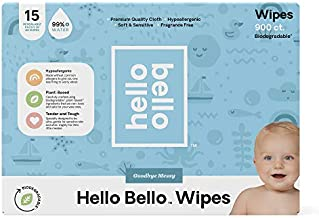 Hello Bello 99% 0 Water Baby Wipes 15PK, 900ct