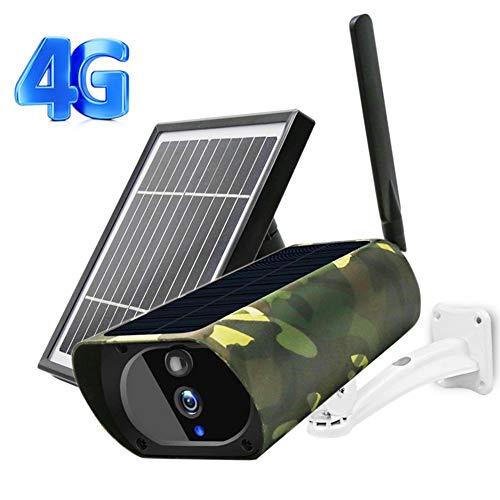 ZJ Cámara IP Solar 4G Seguridad 1080P HD Panel De Energía Solar Externo Al Aire Libre IP67 Vigilancia Metálica Cámara Inalámbrica Seguridad con Batería para El Hogar