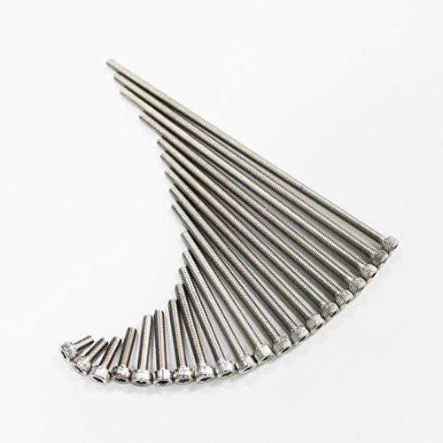 KAIBINY YY Tornillos de Tapa de zócalo/Bolt M3 / M4 / M5 / M6 / M8 (Length : 160mm, Thread Diameter : M5 5pcs)