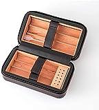 WANGXIAOYUE Caja de cigarros Cigarros con la Caja de Cigarrillos portátil de Cuero Forrado de Cedro de Cedro humidificado Caja de Tabaco