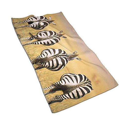 N/Q Zebras Toalla de Mano con patrón de Vista Posterior...