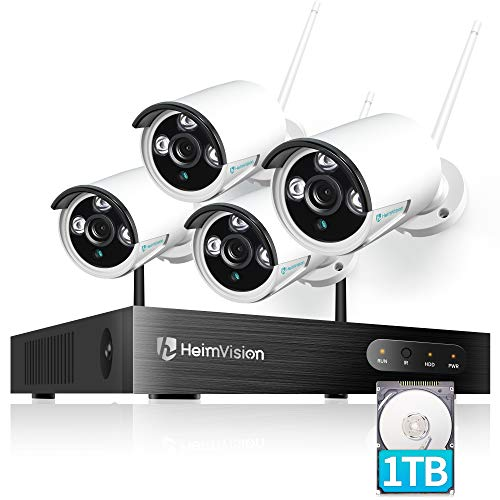 HeimVision HM241A Wireless Security Camera System with 1TB Hard Drive, 8 Channel NVR 4Pcs 1080P Home WiFi Security Camera Outdoor with Night Vision, Waterproof, Motion Alert, Remote Access. Buy it now for 229.99