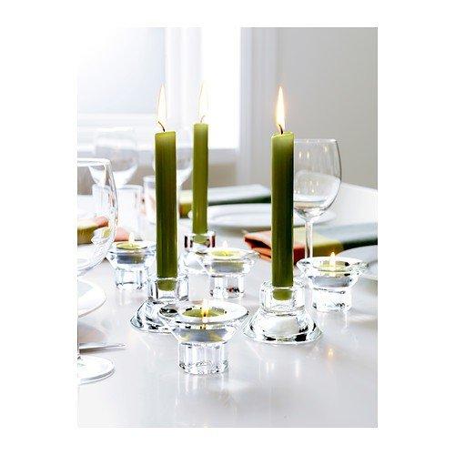 IKEA NEGLINGE Kerzen- oder Teelichthalter aus Glas; (5 cm); 8 Stück