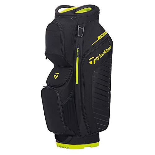 TaylorMade Cart Lite Bag, Black/Neon Lime