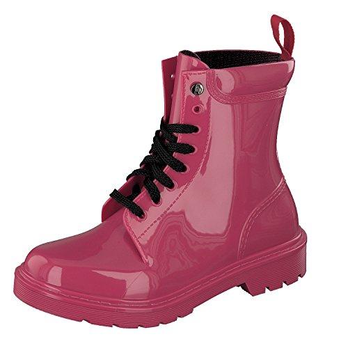 GOSCH SHOES Damen Schuhe BootsGummi Stiefel 7105-300 in 3 Farben (37, Rot)